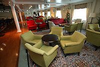 Swan Hellenic's Minerva arrived in it's homeport of Portsmouth today following it's multi-million pound upgrade. .Darwin Lounge.