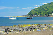 Sailboats on the Gulf of St. Lawrence (Gaspe Peninsula)<br /> Mont Louis<br /> Quebec<br /> Canada