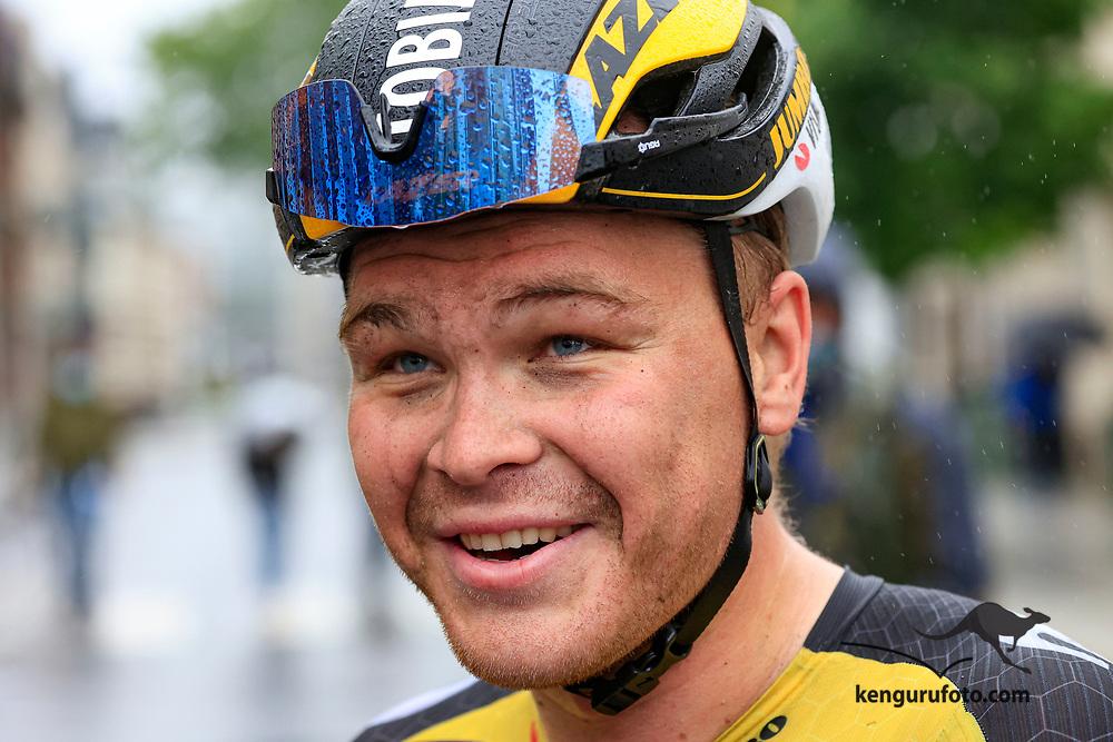 Tobias Svendsen Foss vant herrenes elite klasse under NM på sykkel 2021 i Kristiansand.