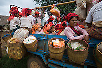 """Pa O women at Inthein market, Inle Lake, Shan State, Myanmar.<br /> Available as Fine Art Print in the following sizes:<br /> 08""""x12""""US$   100.00<br /> 10""""x15""""US$ 150.00<br /> 12""""x18""""US$ 200.00<br /> 16""""x24""""US$ 300.00<br /> 20""""x30""""US$ 500.00"""
