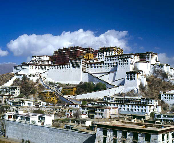 View of the Potala Palace from the Eastern Elevation