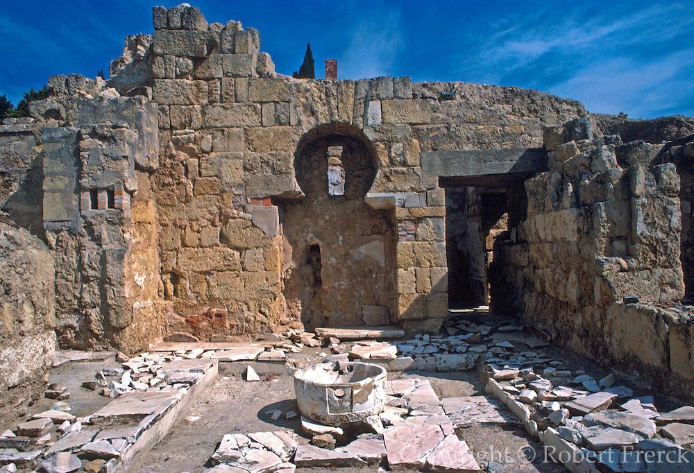 SPAIN, ANDALUSIA, CORDOBA Medina Azahara, ruins of palace