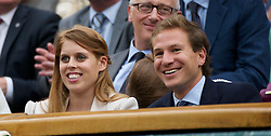 28.06.2011, Wimbledon, London, GBR, WTA Tour, Wimbledon Tennis Championships, im Bild Beatrice Elizabeth Mary Windsor, Princess Beatrice of York, with her boyfriend Dave Clarke, watch from the Royal Box on Centre Court during the Ladies' Singles Quarter-Final on day eight of the Wimbledon Lawn Tennis Championships at the All England Lawn Tennis and Croquet Club. EXPA Pictures © 2011, PhotoCredit: EXPA/ Propaganda/ David Rawcliffe +++++ ATTENTION - OUT OF ENGLAND/UK +++++ // SPORTIDA PHOTO AGENCY