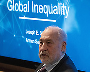 Joseph E. Stiglitz, Professor, School of International and Public Affairs (SIPA), Columbia University, USA, speaking in the Balancing Domestic and Global Inequality session at the World Economic Forum Annual Meeting 2020 in Davos-Klosters, Switzerland, 22 January. Congress Centre - Hub A Room. Copyright by World Economic Forum/ Greg Beadle