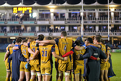 Bristol Rugby huddle after a 22-6 loss - Rogan Thomson/JMP - 20/10/2016 - RUGBY UNION - The Recreation Ground - Bath, England - Bath Rugby v Bristol Rugby - EPCR Challenge Cup.