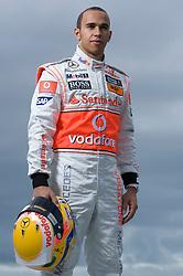 Motorsports / Formula 1: World Championship 2009, tests in Portimao, Algarve, Lewis Hamilton (GBR, Vodafone McLaren Mercedes), .  exclusive photoshooting, exklusives, exklusiv, fotoshooting, .copyright: SPORTIDA / HOCH ZWEI / Juergen Tap