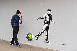 "Glasgow, Scotland, UK. 3 April 2020. New street art based on the current coronavirus pandemic called ""Lockdown"" by artist The Rebel Bear has appeared in central Glasgow. Iain Masterton/Alamy Live News."