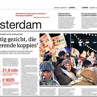 Tekst en beeld zijn auteursrechtelijk beschermd en het is dan ook verboden zonder toestemming van auteur, fotograaf en/of uitgever iets hiervan te publiceren <br /> <br /> Parool 7 januari 2015: winnaars van de postcodeloterij in Amsterdam ZO