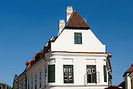 Kreszto House, 1 Apåca Ut. The Kreszto House, Classicsist House and museum of artist  Margrit Kocåcs Life-work.- ( Gy?r )  Gyor Hungary .<br /> <br /> Visit our HUNGARY HISTORIC PLACES PHOTO COLLECTIONS for more photos to download or buy as wall art prints https://funkystock.photoshelter.com/gallery-collection/Pictures-Images-of-Hungary-Photos-of-Hungarian-Historic-Landmark-Sites/C0000Te8AnPgxjRg