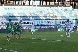 """Foto Filippo Rubin<br /> 21/11/2020 Ferrara (Italia)<br /> Sport Calcio<br /> Spal - Pescara - Campionato di calcio Serie B 2020/2021 - Stadio """"Paolo Mazza""""<br /> Nella foto: GOAL SPAL SEBASTIANO ESPOSITO (SPAL)<br /> <br /> Photo Filippo Rubin<br /> November 21, 2020 Ferrara (Italy)<br /> Sport Soccer<br /> Spal vs Pescara - Italian Football Championship League B 2020/2021 - """"Paolo Mazza"""" Stadium <br /> In the pic: GOAL SPAL SEBASTIANO ESPOSITO (SPAL)"""