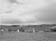 6608 Cedar Mill landscape and clouds, with Katie and David in foreground. June 23, 1946.