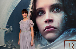 Felicity Jones attending a special screening of Rogue One: A Star Wars Story at the BFI IMAX, London. PRESS ASSOCIATION Photo. Picture date: Tuesday December 13, 2016. See PA story SHOWBIZ Rogue One. Photo credit should read: Ian West/PA Wire