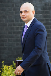 Downing Street, London, May 17th 2016. State for Business Secretary Sajid Javid arrives at the weekly cabinet meeting in Downing Street.