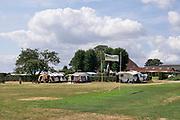 Nederland, Groesbeek,  8-8-2019Kamperen bij de boer op het erf. Op vakantie in eigen land. Foto: Flip Franssen
