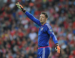 Wayne Hennessey of Wales (Crystal Palace) - Photo mandatory by-line: Alex James/JMP - Mobile: 07966 386802 - 12/06/2015 - SPORT - Football - Cardiff - Cardiff City Stadium - Wales v Belgium - Euro 2016 qualifier