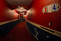 Renovation work at the Colonial Theater in Laconia, NH. ©Karen Bobotas Photographer