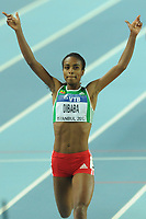 ATHLETICS - WORLD CHAMPIONSHIPS INDOOR 2012 - ISTANBUL (TUR) 09 to 11/03/2012 - PHOTO : STEPHANE KEMPINAIRE / KMSP / DPPI - <br /> 1500 M - WOMEN - FINALE - GOLD MEDALE - GENZEBE  DIBABA (ETH)