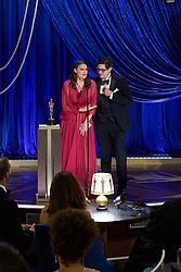 Alice Doyard and Anthony Giacchino accept the Oscar® for Documentary Short Subject during the live ABC Telecast of The 93rd Oscars® at Union Station in Los Angeles, CA, USA on Sunday, April 25, 2021. Photo by Todd Wawrychuk/A.M.P.A.S. via ABACAPRESS.COM