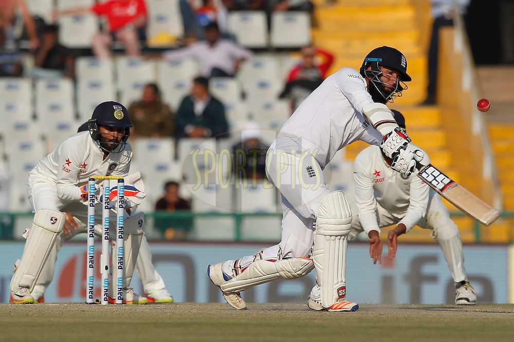 Moeen Ali of England bats during day 3 of the third test match between India and England held at the Punjab Cricket Association IS Bindra Stadium, Mohali on the 28th November 2016.<br /> <br /> Photo by: Deepak Malik/ BCCI/ SPORTZPICS