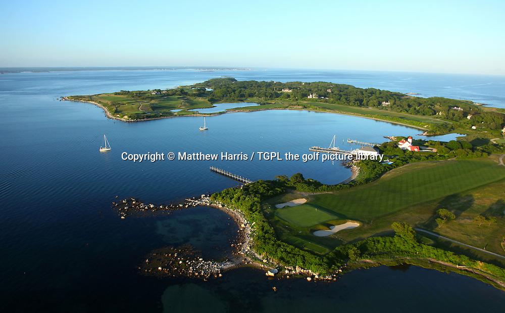 Fishers Island Golf Club aerial general view, Fishers Island,New York,USA.