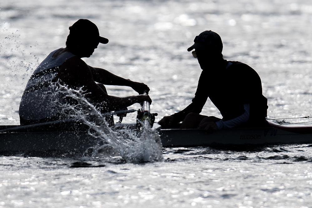 mens coxswain and stroke<br /> <br /> NZ National Club Rowing Championships, Lake Karapiro, Cambridge, New Zealand. Friday 21st February 2020.  Copyright photo © Steve McArthur / www.photosport.nz