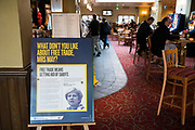 Strong anti-Europe and pro-Brexit establishment. They have even got rid of European drinks from the bar. J D Wetherspoon plc (branded as Wetherspoon, commonly known as spoons) is a pub company in the United Kingdom and Ireland. Founded in 1979 by Tim Martin, the company operates nearly 900 pubs, including the chain of Lloyds No.1 bars, and a growing number of Wetherspoon hotels. With its headquarters in Watford, Wetherspoon is known for converting unconventional yet attractive premises into pubs.