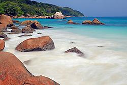 19.07.2015, Insel Praslin, SYC, auf den Seychellen, im Bild Granitfelsen und Strand des Anse Lazio am Abend, Langzeitbelichtung, Insel Praslin, Seychellen // Holiday on the Seychelles at the Insel Praslin, Seychelles on 2015/07/19. EXPA Pictures © 2015, PhotoCredit: EXPA/ Eibner-Pressefoto/ Schulz<br /> <br /> *****ATTENTION - OUT of GER*****