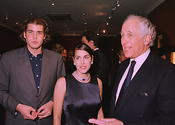 Left to right, MR ANTHONY DE ROTHSCHILD, MISS JESSICA DE ROTHSCHILD and their father SIR EVELYN DE ROTHSCHILD,  at an exhibition in London on 12th November 1997.MDF 101