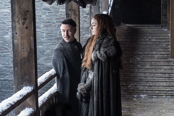 September 1, 2017 - Aidan Gillen, Sophie Turner..'Game Of Thrones' (Season 7) TV Series - 2017 (Credit Image: © Hbo/Entertainment Pictures via ZUMA Press)