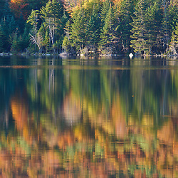 Pond of Safety in the Randolph Community Forest. in New Hampshire's White Mountains. Fall.