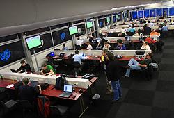 Working journalists in Wien press center at UEFA EURO 2008 at Ernst-Happel Stadium, on June 8,2008, in Vienna, Austria.  (Photo by Vid Ponikvar / Sportal Images)