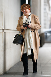 © Licensed to London News Pictures. 05/02/2017. London, UK. Shadow Foreign Secretary EMILY THORNBERRY arrives at BBC Broadcasting House in London to appear on The Andrew Marr show on BBC One on 5 February 2017. Photo credit: Tolga Akmen/LNP