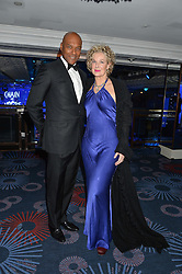 COLIN SALMON and FIONA HAWTHORNE at the Chain of Hope Gala Ball held at The Grosvenor House Hotel, Park Lane, London on 18th November 2016.