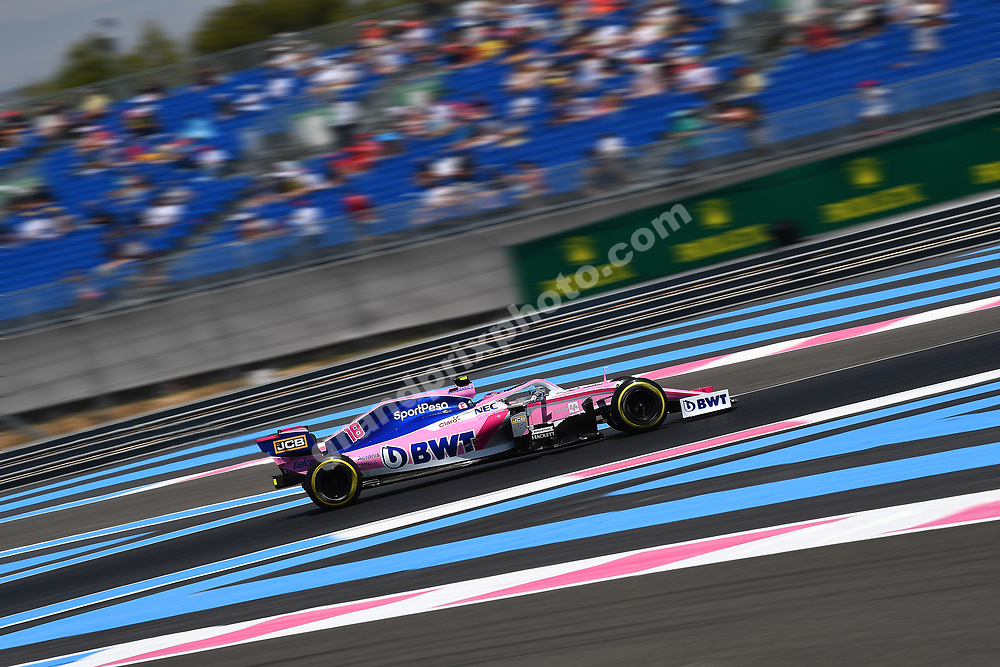 Lance Stroll (Racing Point-Mercedes) during practice for the 2019 French Grand Prix at Paul Ricard. Photo: Grand Prix Photo