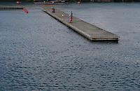 Empty mooring at DunLaoghaire Pier Dublin Ireland in the winter