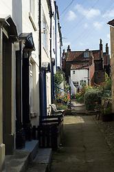 Cobbled streets of Robin Hoods Bay north Yorkshire.September 2010 .Images © Paul David Drabble