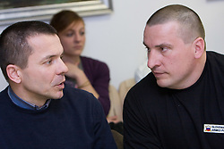 Iztok Ciglaric of AK Poljane and Igor Primc when Slovenian athletes and their coaches sign contracts with Athletic federation of Slovenia for year 2009,  in AZS, Ljubljana, Slovenia, on March 2, 2009. (Photo by Vid Ponikvar / Sportida)
