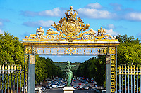 The Palace of Versailles, or simply Versailles, is a royal château close to Paris, France. Equestrian statue of Louis XIV.