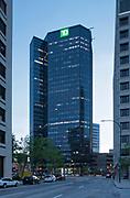 Reclad of Building at 360 Main Street. Raymond SC Wan Architects, Winnipeg, Manitoba, Canada