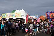 The AARP Block Party at the Albuquerque International Balloon Fiesta in Albuquerque New Mexico USA on Oct. 7th, 2018.