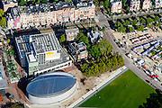 Nederland, Noord-Holland, Amsterdam, 27-09-2015; Museumkwartier, Museumplein. Aan de Paulus Potterstraat  Van Goghmuseum.<br /> Museum quarter with Van Goghmuseum.<br /> luchtfoto (toeslag op standard tarieven);<br /> aerial photo (additional fee required);<br /> copyright foto/photo Siebe Swart