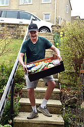 Life in coronavirus lockdown in the UK April 2020. Fruit and veg delivery to homes under lockdown UK