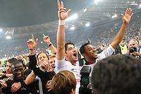 Pato e Robinho (Milan) festeggiano la vittoria dello scudetto<br /> Roma vs Milan<br /> Campionato di Calcio serie A<br /> Stadio Olimpico, Roma, 07/05/2011<br /> Photo Antonietta Baldassarre Insidefoto