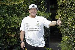 Diego Armando Maradona bei einer Pressekonferenz zum Benefiz-Fussball-Event Spiel f¸r den Frieden am 12. Oktober 2016 in Rom / 101016<br /> <br /> ***Match of Peace: United For Peace' photocall, Rome, Italy on october 10, 2016***