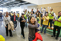 Customers stream in welcomed by workers at the grand opening of the new Ikea in Burbank. The new Ikea store comes in at 456,000 sf, compared to the old one at 242,000 sf. And 1,700 parking places.  Feb. 8, 2017  Photo by David Sprague
