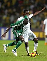 Fotball<br /> Afrika mesterskapet 2008<br /> Foto: DPPI/Digitalsport<br /> NORWAY ONLY<br /> <br /> FOOTBALL - AFRICAN CUP OF NATIONS 2008 - 1/4 FINAL - 3/02/2008 - GHANA v NIGERIA - MIKAEL ESSIEN (GHA) / GEORGE OLOFINJANA (NIG)