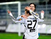 08.03.09 Fotball eliteserien (treningskamp) stavanger stadion Viking - Rosenborg<br /> Mikael Lustig gratulerer Marek Sapara
