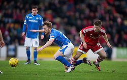 St Johnstone's Liam Craig and Aberdeen's Cammy Smith. <br /> St Johnstone 3 v 4Aberdeen, SPFL Ladbrokes Premiership played 6/2/2016 at McDiarmid Park, Perth.