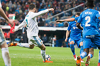 Real Madrid Cristiano Ronaldo Getafe Djene Dakonam during La Liga match between Real Madrid and Getafe CF  at Santiago Bernabeu Stadium in Madrid , Spain. March 03, 2018. (ALTERPHOTOS/Borja B.Hojas)
