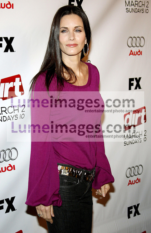 """Courteney Cox attends the Season Two Premiere Screening of """"Dirt"""" held at he ArcLight Theater in Hollywood, California, United States on February 28, 2008."""
